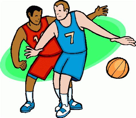 Kids Playing Basketball Clip Art