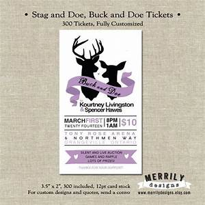 300 tickets stag and doe tickets buck and doe tickets With jack and jill tickets templates