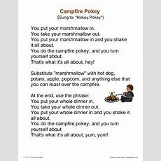 Camping Fun  Songs, Poems And Fingerplays  Daycare Songs  Girl Scout Camping, Camp Songs