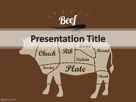 beef powerpoint template   powerpoint