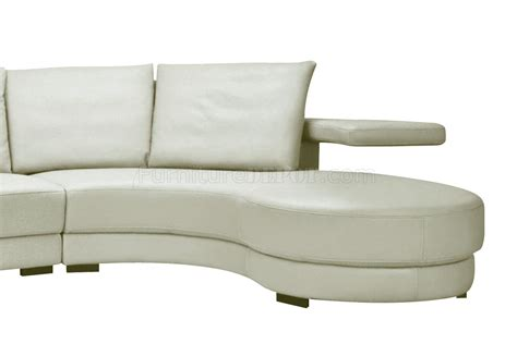 oversized sectional sofa in white leather