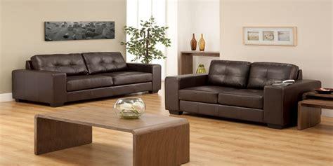 Dark Brown Leather Sofa Living Room