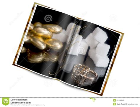 wedding ring book stock photo image 42734466