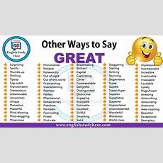 Other Ways To Say Great!  English Study Here