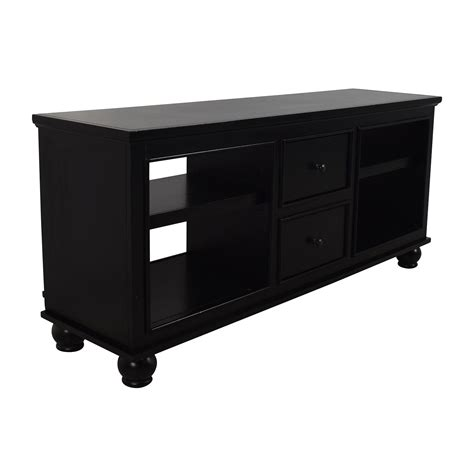 stand with drawers 90 black wooden media stand with 2 drawers storage