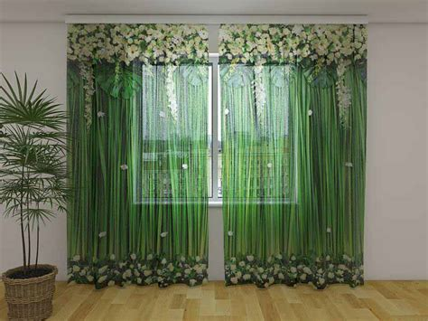 Photocurtains Wellmira Christmas Curtains With Lights On The Wall Green Stripe Curtain How To Remove Mildew From Make String For A Sliding Door Chocolate Brown And Red Bedroom Length