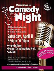 comedy night at giggles With comedy night poster template
