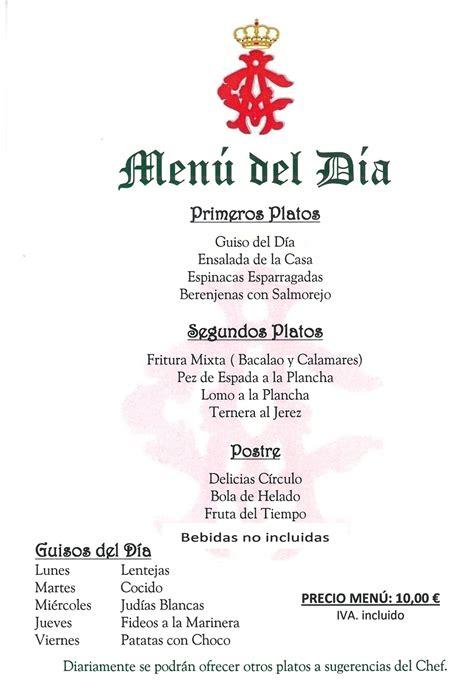 menu del