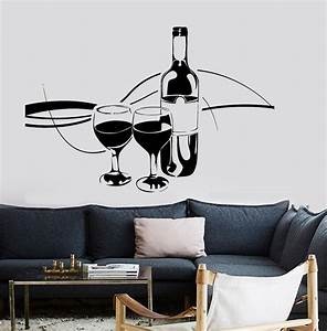 2016 home wall vinyl decal wine vine glasses amazing decal With kitchen colors with white cabinets with vineyard vines stickers free