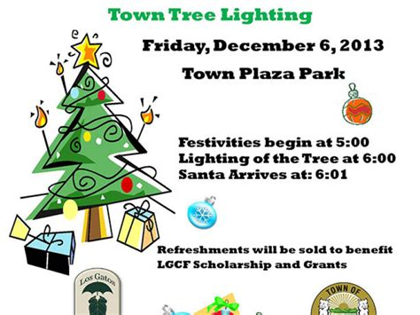 los gatos christmas tree lighting ceremony set for friday