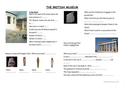 museum worksheet free esl printable worksheets