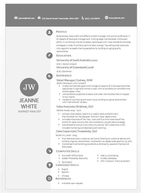 Modern Resume Template Word Format by Modern Microsoft Word Resume Template Jeanne White 04