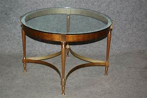 vintage bronze coffee table with glass top for sale at pamono With antique bronze coffee table