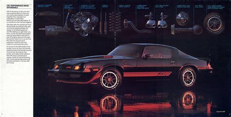 Gm 1981 Chevrolet Camaro Sales Brochure