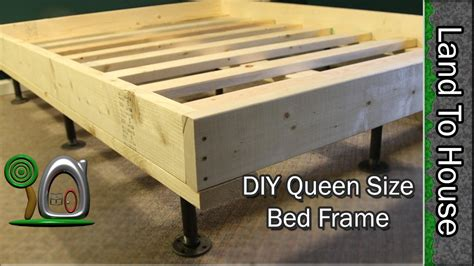 Sturdy Bed Risers by Queen Size Bed Frame Diy Youtube
