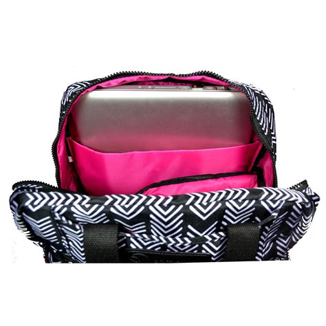 Sarah Wells Breast Pump Diaper Bag Kelly Black White