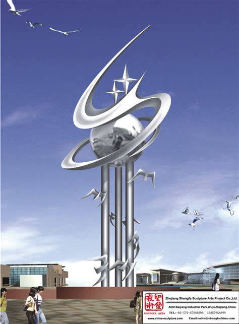 outdoor art stainless steel sculpture china manufacturer