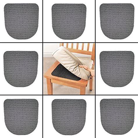 8pk slip resistant chair pad cushion grip no slip seat mat