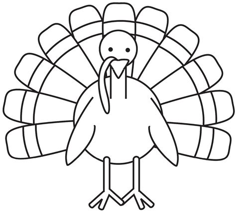 turkey coloring page  large images school