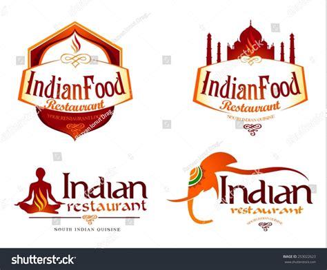 cuisine logo indian food logo creative restaurant logo stock vector