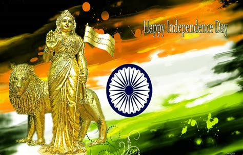 happy independence day indian goddess picture