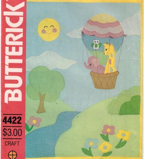 butterick pattern  baby quilt pattern hot air balloon