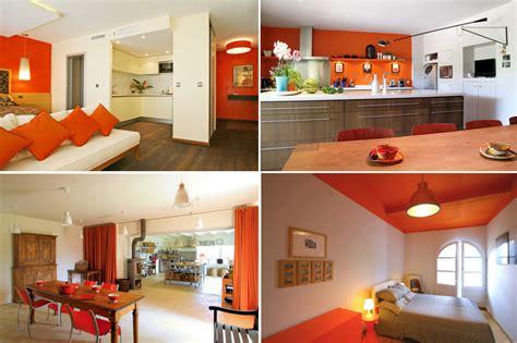 cuisine orange et gris deco cuisine orange et gris
