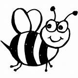Bee Bumble Coloring Pages Printable Print Colouring Cute Outline sketch template