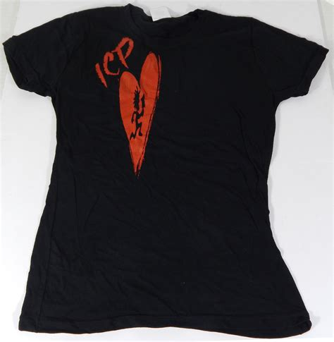 "Icp ""heart"" Ladies Tshirt ^ Size Small Black ^ New Shirt"