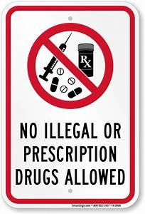 No Drugs or Alcohol Signs - Spanish and Bilingual Drug Free