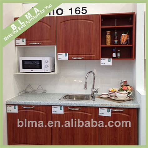 china ready made simple designs pvc wood kitchen cabinets for sale from shouguang bailongma