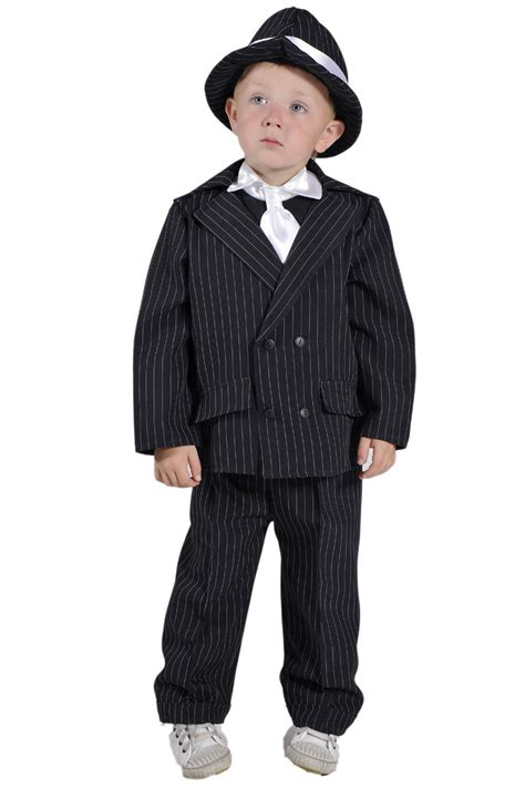 Childrenu2019s Kids Boys Gangster Bugsy Malone Fancy Dress Up Costume Outfit