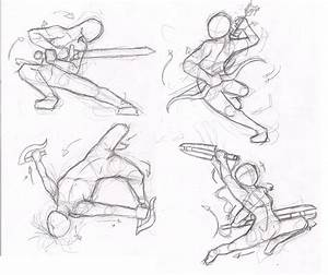 Dynamic pose practice by Elements-of-Time on DeviantArt