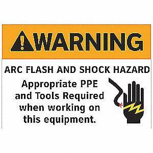 electromark arc flash warning label7 in hpk5 9k275 With arc flash decals