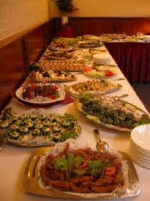 Christmas Party Buffet Food Tables