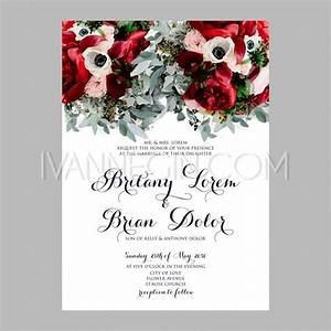peony wedding invitation printable template with floral With wedding invitation templates with roses