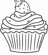 Cupcake Coloring Cupcakes Sprinkles Kawaii Sheets Colouring Strawberry Printable Icolor Template Dibujos Drawing Cake Tela Eis Bros Johansen Charlotte Cup sketch template