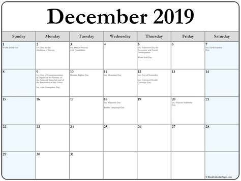 collection  december  calendars  holidays