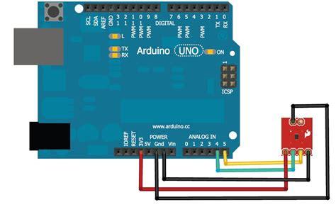 fritzing project temperature sensor  tmp