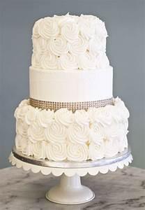 a simple elegant wedding cake with rosettes and With simple wedding cake ideas