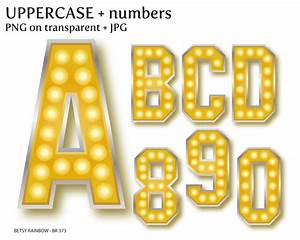 hollywood lights digital letters and number cliparts png and With hollywood letter lights