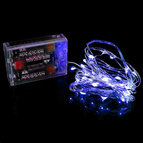 blue 3 aa battery operated led string lights