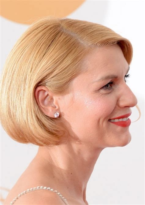 claire danes short haircut blonde bob hairstyle