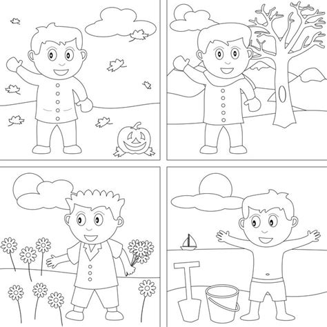 seasons coloring page weather activities pinterest coloring math worksheets