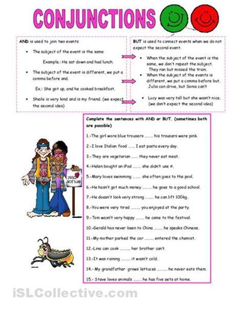 conjunctions worksheet conjunctions
