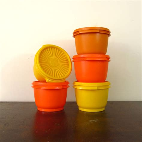vintage tupperware vintage tupperware containers set of 5 bowls 1970s canisters