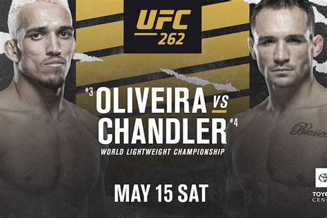 latest ufc  fight card ppv lineup  oliveira  chandler     houston mmamaniacom