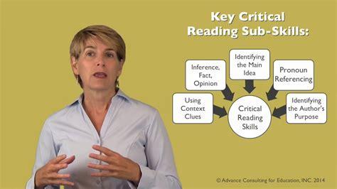 Teaching Critical Reading Skills  Sneak Peek Youtube