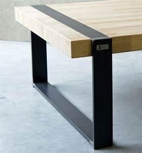Table basse bois metal bois palette wood pinterest for Table basse bois metal