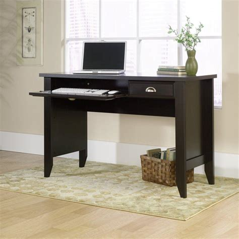 shoal creek desk white sauder shoal creek jamocha wood desk 409936 the home depot